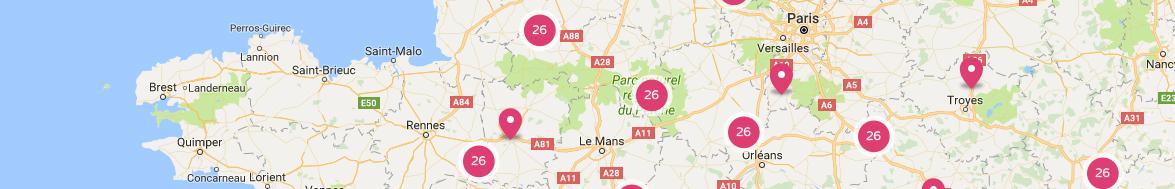 Carte des sites touristiques